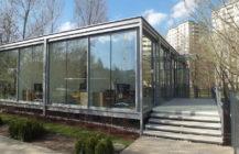 Modular medical pavillon in Warsaw city centre