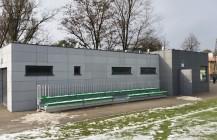 Zaplecze obiektu sportowego w Markach.